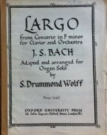 Bach, J.S. - Largo from Concerto in F minor for Clavier and Orchestra
