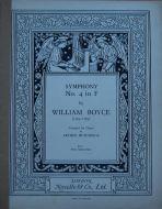 Boyce, William - Symphony No. 4 in F