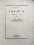 Burgmuller, F - Piano Studies, Op. 100
