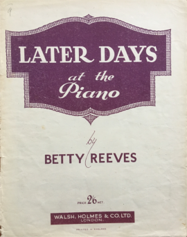 Later Days at the Piano
