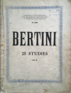 Bertini, H - 25 Studies, Op.32