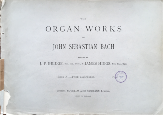 Bach, J.S. - Organ Works, Book 11, Four Concertos