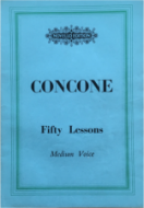 Concone, Guiseppe - Fifty Lessons, medium voice