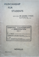 Musicianship For Students - Harmony, Counterpoint and Improvisation