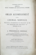 Organ Accompaniment of the Choral Service