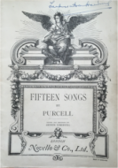 Purcell, Henry - Fifteen Songs