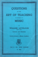 Questions on the Art of Teaching Music