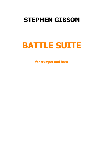 Battle Suite for trumpet and horn
