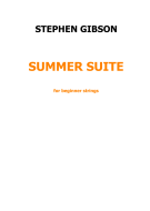 Summer Suite - full score and parts